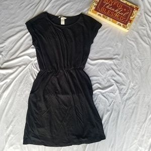 H&M Basic black romper dress XS